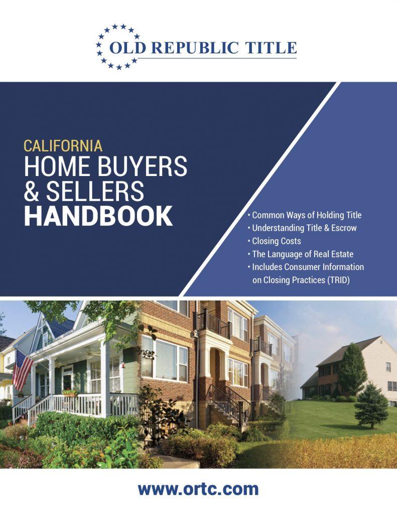 California Home Buyers and Sellers Handbook
